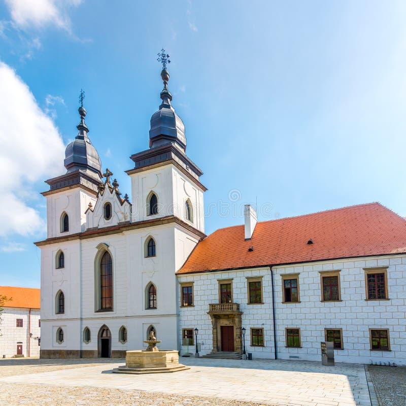 Mening bij de Basiliek van StProcopius in Trebic - Moravië, Tsjechische republiek stock fotografie