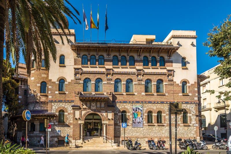 Mening bij de de bouwuniversiteit van Malaga in Spanje stock afbeeldingen