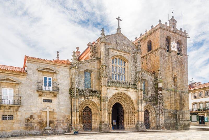 Mening bij de Kathedraal van Onze Dame van de Veronderstelling in Lamego - Portugal royalty-vrije stock afbeeldingen