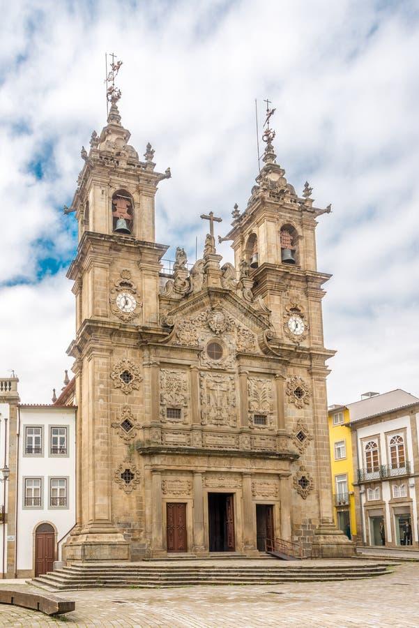 Mening bij de Kerk van Santa Cruz in Braga, Portugal royalty-vrije stock afbeelding