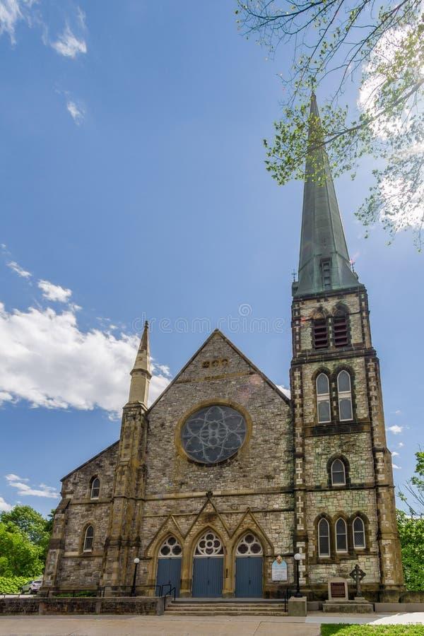 Mening bij de StPaul-kerk in Fredericton - Canada stock afbeelding