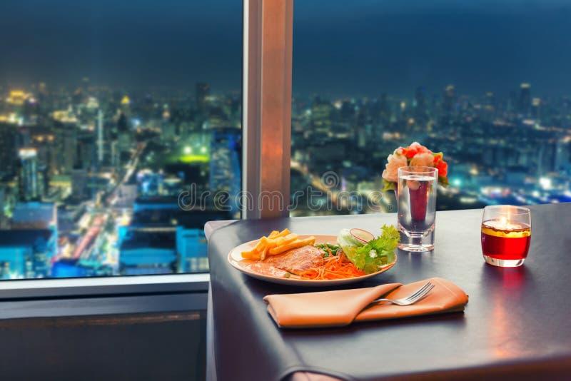 Mening bij nacht Bangkok stock fotografie
