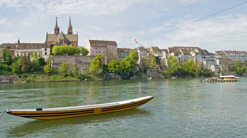 Mening bij Stad van Bazel, Zwitserland stock afbeeldingen