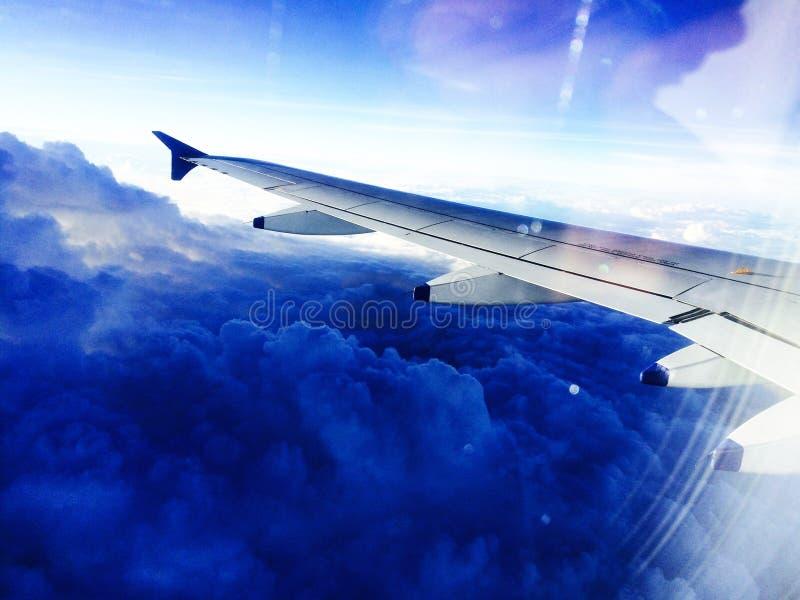 Mening buiten vliegtuig stock foto's