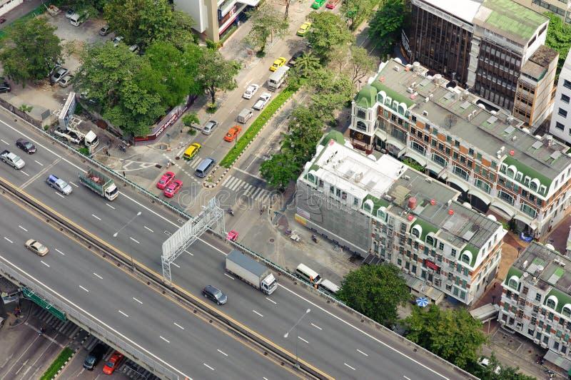 Mening de van de binnenstad van Bangkok van Leboa-hotel royalty-vrije stock foto