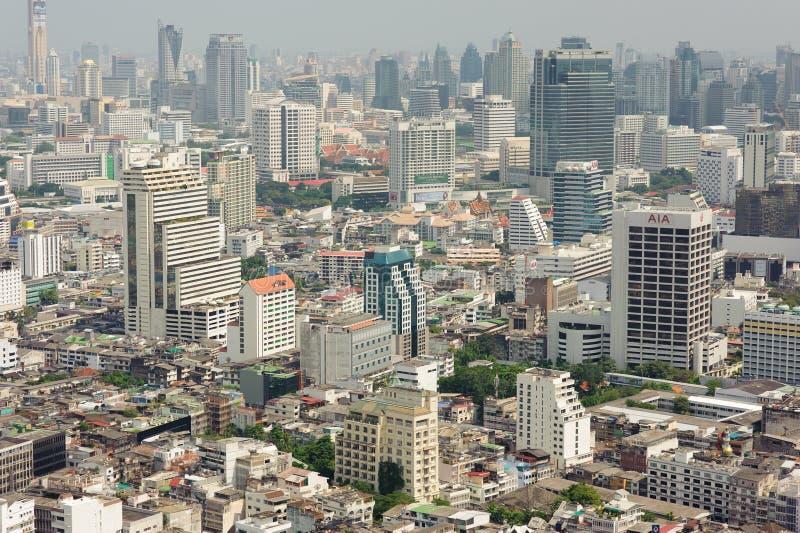 Mening de van de binnenstad van Bangkok van Leboa-hotel stock foto's