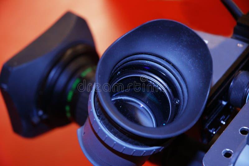 Mening door een lens stock afbeelding