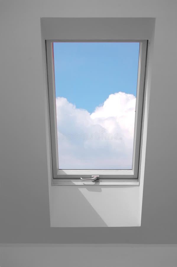 Mening door het venster. stock foto's