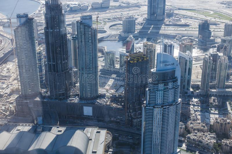 Mening Doubai van de binnenstad stock afbeelding