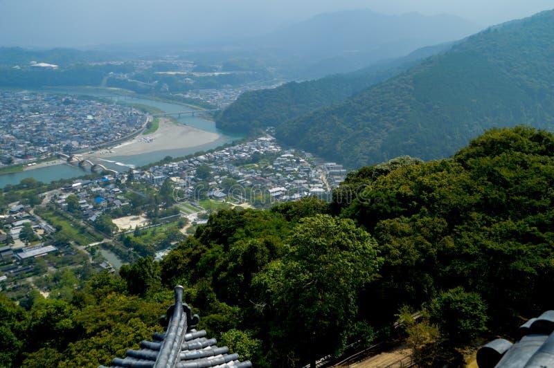 Mening in Iwakuni Japan van het Kasteel royalty-vrije stock fotografie