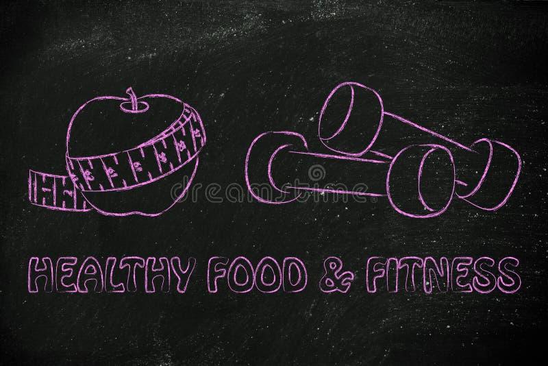 Mening, kropp och anda: färdigt liv och sund mat arkivfoto