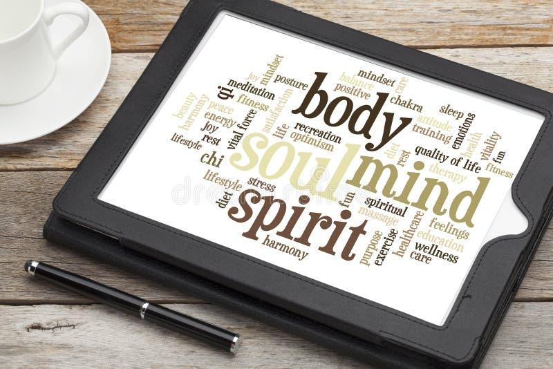 Mening, lichaam, geest en ziel royalty-vrije stock afbeeldingen