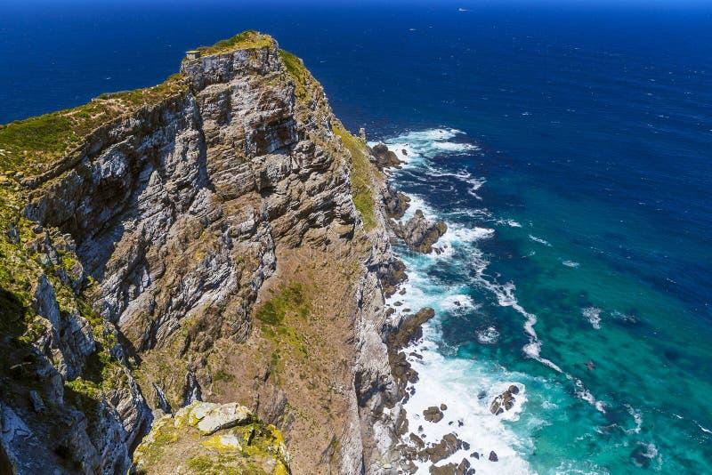 Mening naar Kaapstad van het Punt van de Kaap, Zuiden Afri stock foto's
