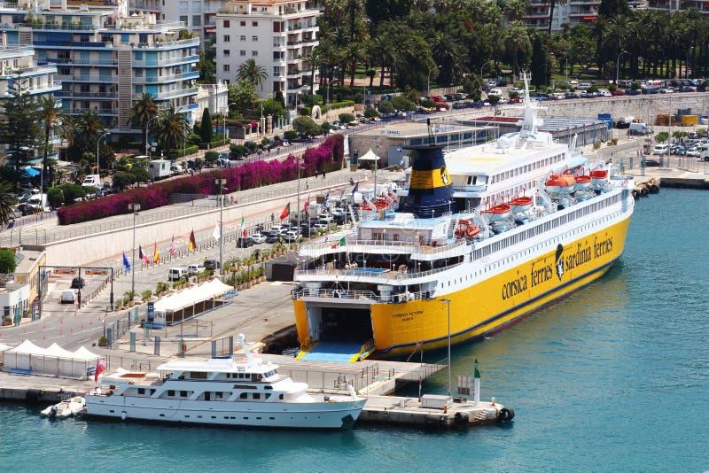 Mening op de haven van Nice, Frankrijk royalty-vrije stock foto's