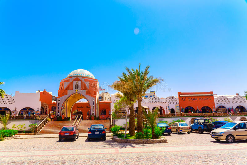 Mening op markt in Arabella Azur Resort royalty-vrije stock fotografie
