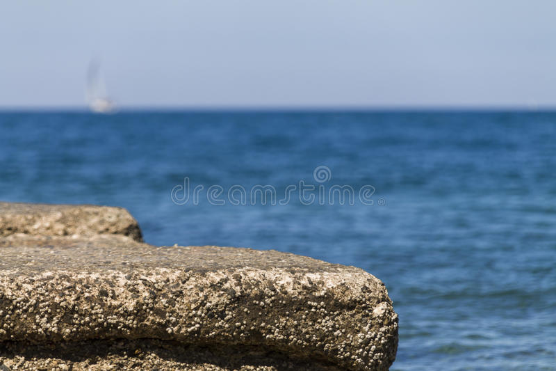 Mening op zee royalty-vrije stock foto