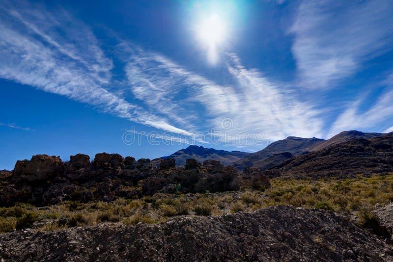 Mening over Altiplano-Woestijn Atacama Bolivië stock foto's