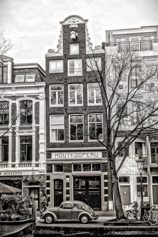 Mening over Amsterdam Holland stock afbeelding