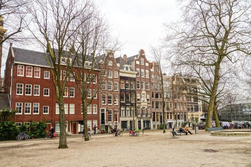 Mening over Amsterdam Holland royalty-vrije stock foto's