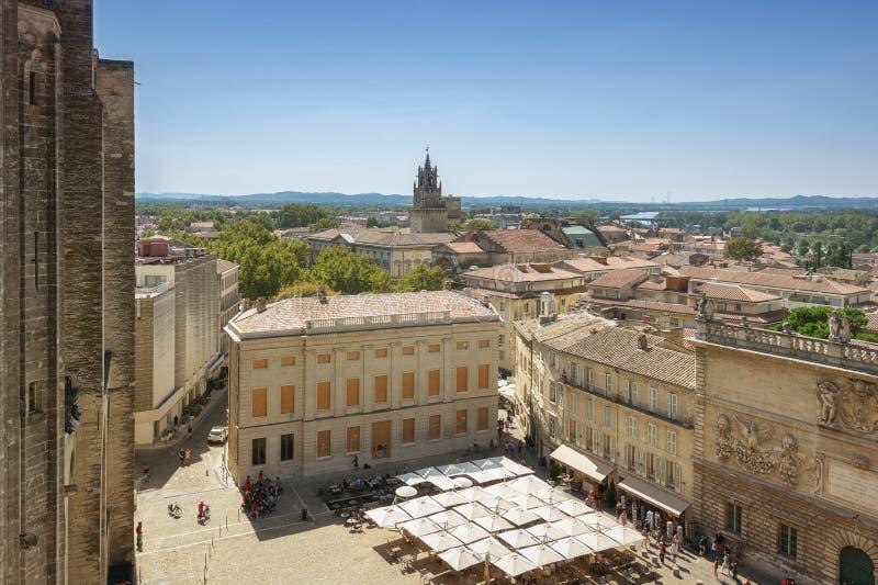 Mening over Avignon van het pauzepaleis royalty-vrije stock afbeelding