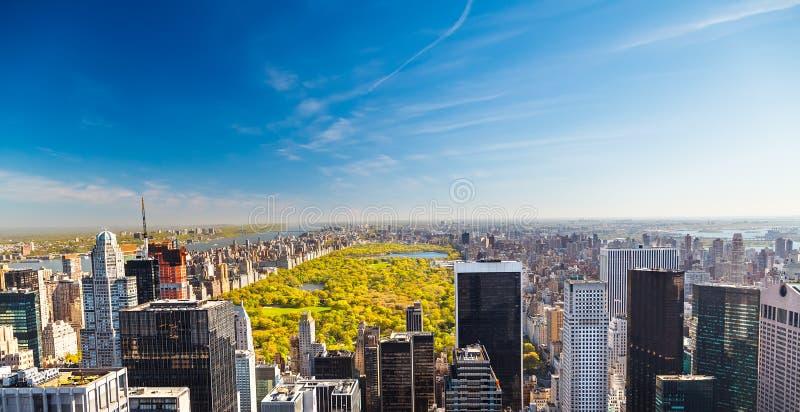 Mening over centraal park, New York stock fotografie