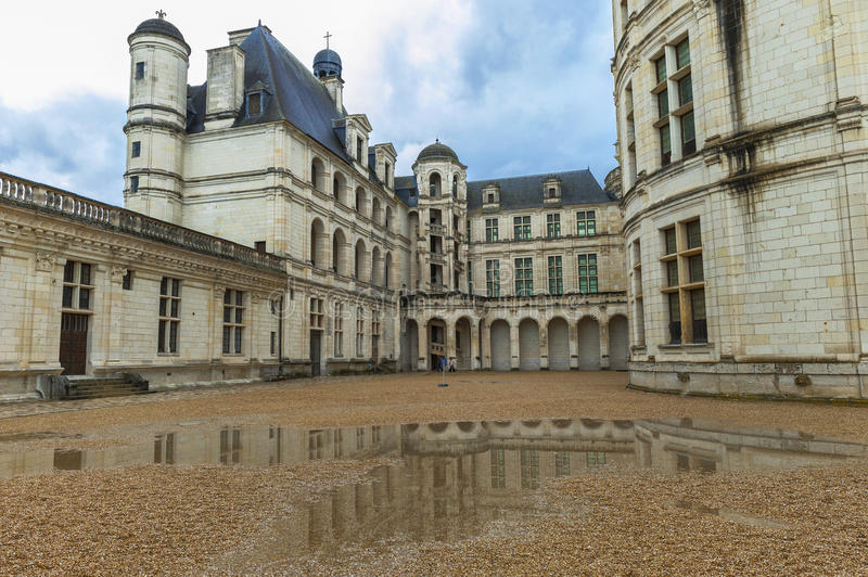 Mening over Chambord-kasteel stock foto's