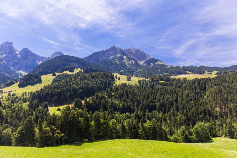 Mening over de Alpen, Zwitserland stock afbeeldingen