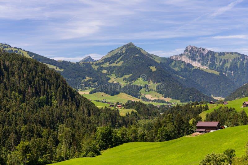 Mening over de Alpen, Zwitserland stock afbeelding