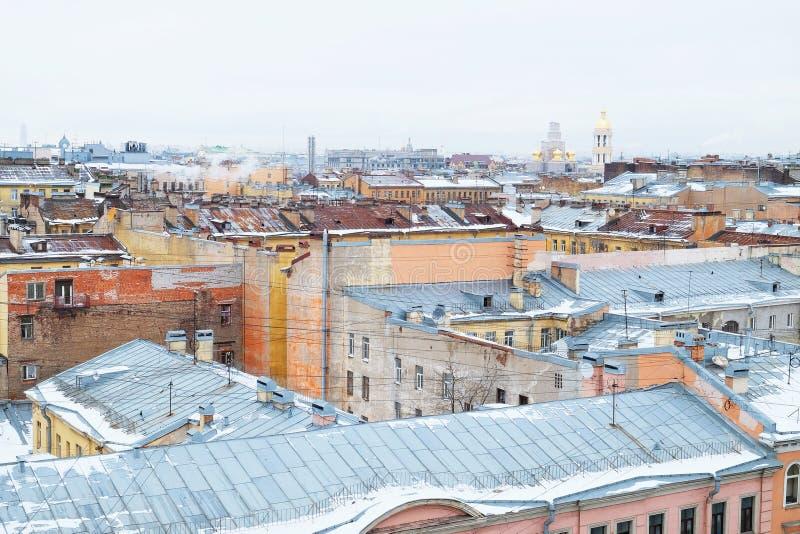 Mening over de daken royalty-vrije stock fotografie