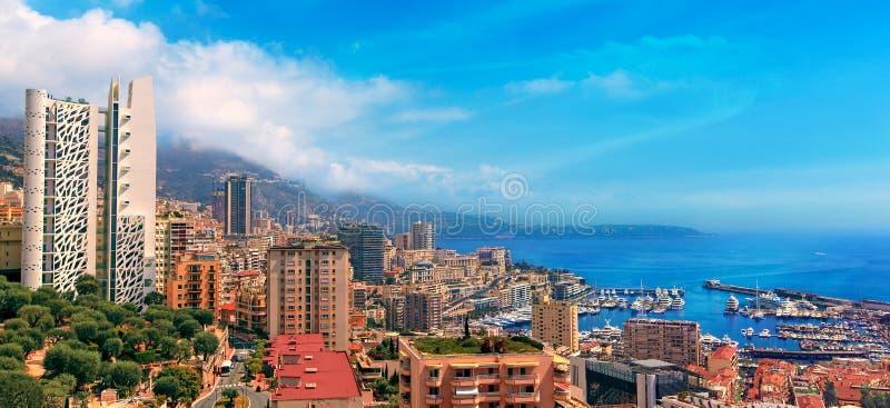 Mening over de haven van Monaco, Kooi d'Azur royalty-vrije stock foto