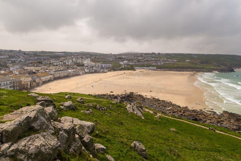 Mening over de Kust van Cornwall in het UK stock fotografie