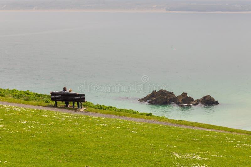 Mening over de Kust van Cornwall in het UK stock foto