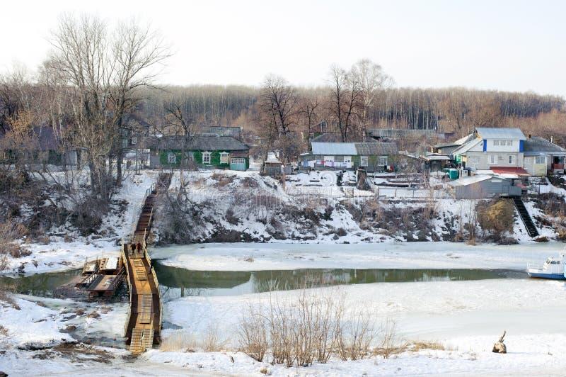 Mening over de rivier Trubezh in Ryazan stock afbeeldingen