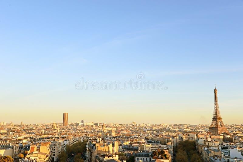 Mening over de Toren van Eiffel, Parijs, Frankrijk stock foto