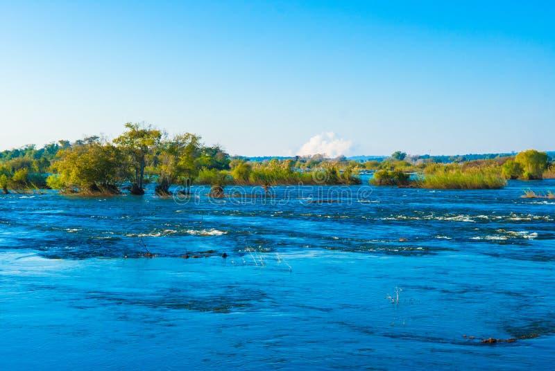 Mening over de Zambezi Rivier stock afbeeldingen