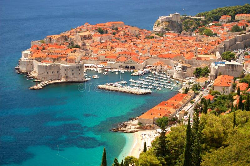 Mening over Dubrovnik royalty-vrije stock afbeeldingen