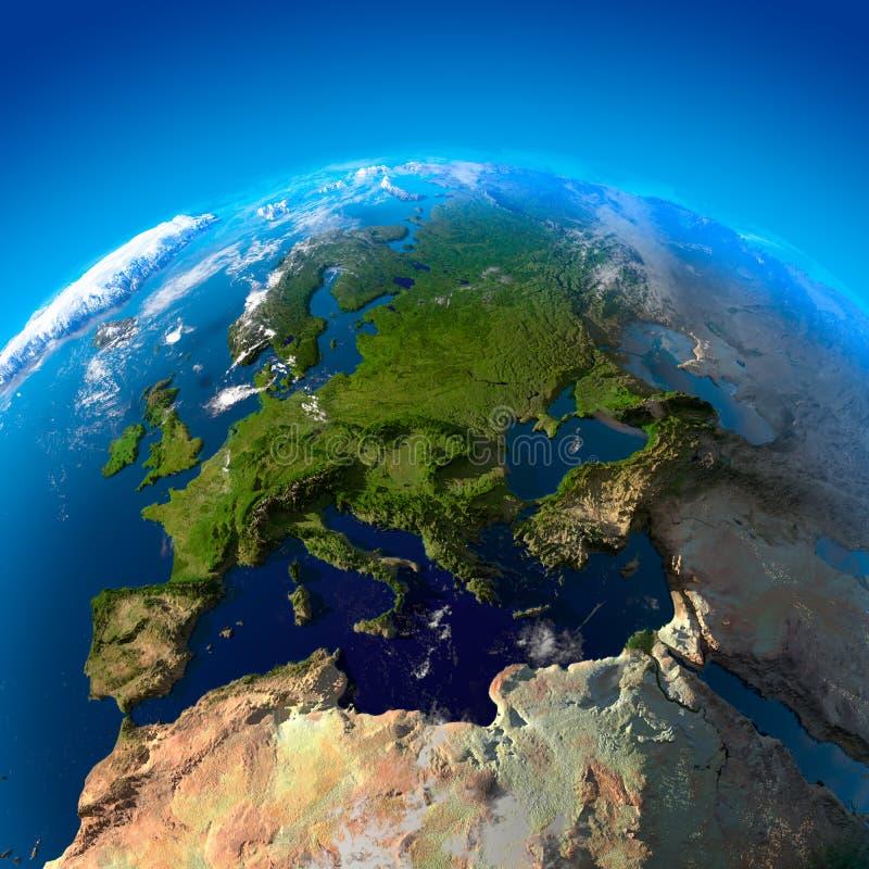 Mening over Europa van een hoogte royalty-vrije illustratie