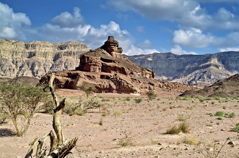 Mening over geologische vormingen, Arava, Israël royalty-vrije stock foto