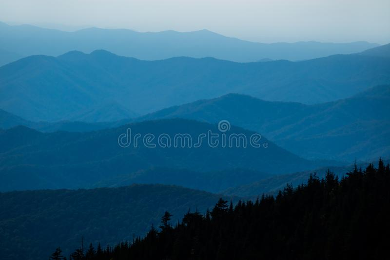 Mening over Great Smoky Mountains stock foto