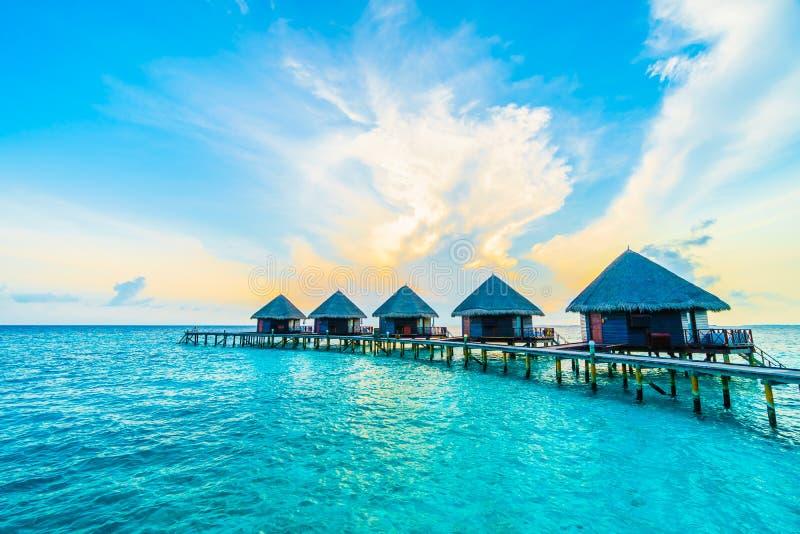 Mening over het Eiland van de Maldiven van vliegtuig royalty-vrije stock afbeelding