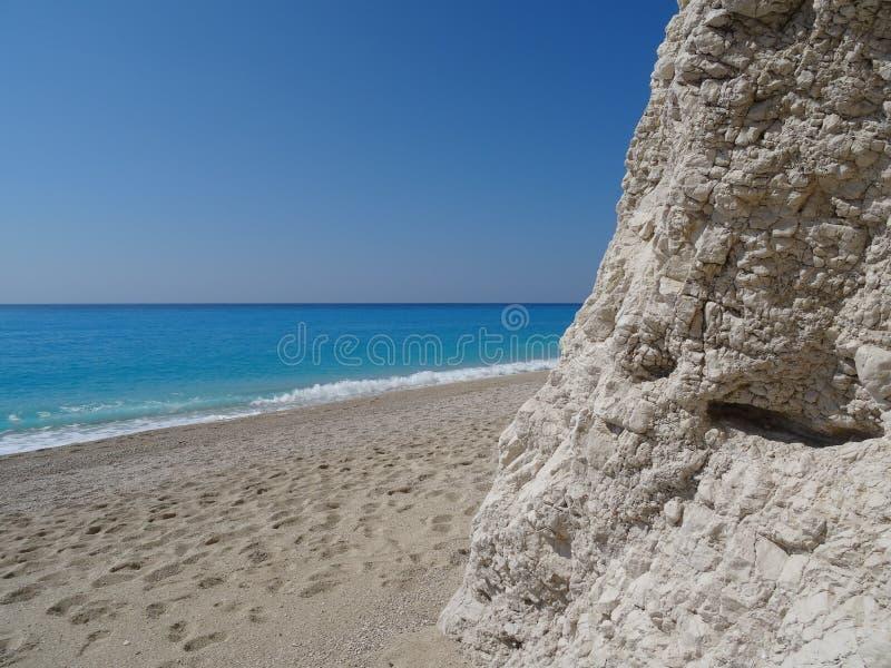 Mening over het overzees van het strand royalty-vrije stock fotografie