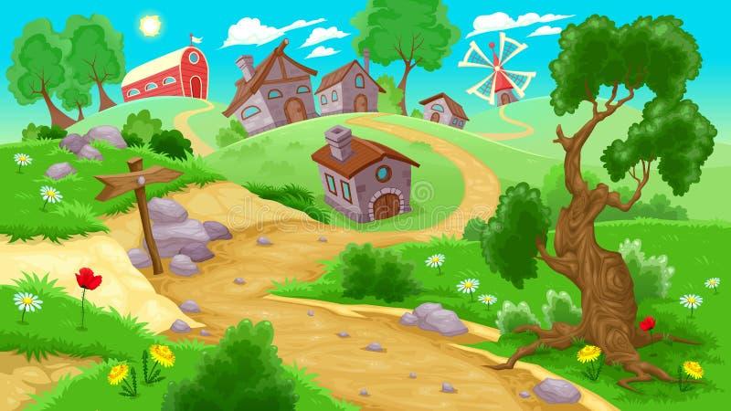 Mening over het platteland stock illustratie