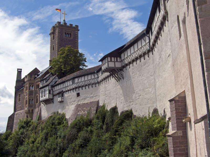 Mening over het Wartburg-Kasteel stock afbeelding