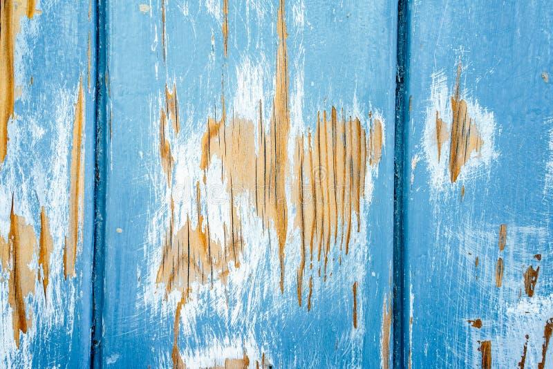 Mening over houten geschilderde muur royalty-vrije stock foto's