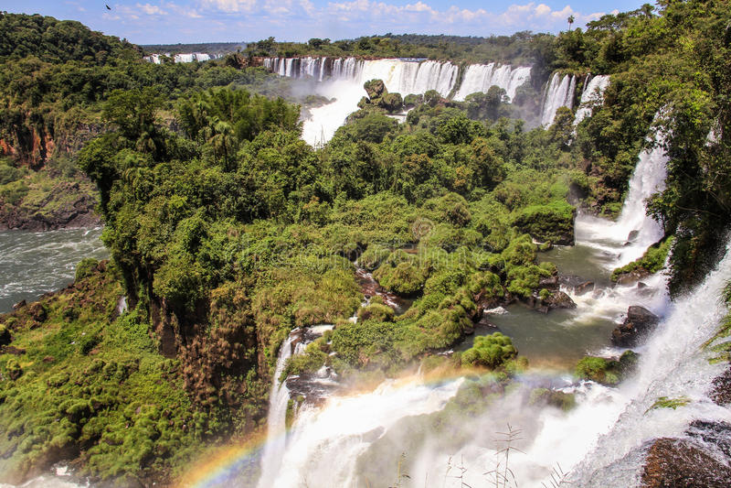 Mening over Iguazu-dalingen, Argentijnse kant, Argentinië royalty-vrije stock foto