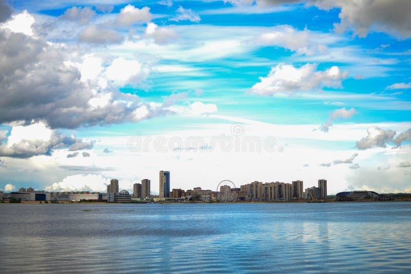Mening over Kazan stock foto