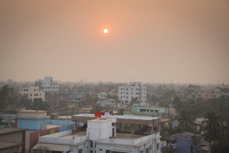 Mening over Khulna in Bangladesh stock afbeelding
