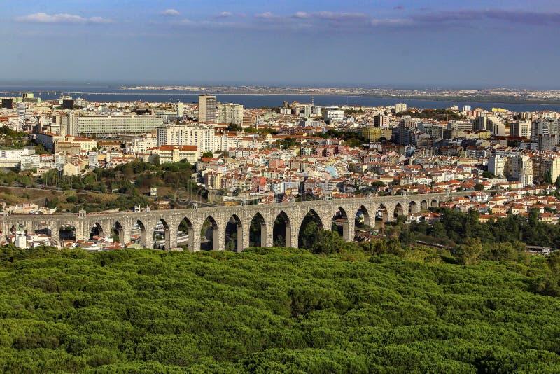Mening over Lissabon stock fotografie