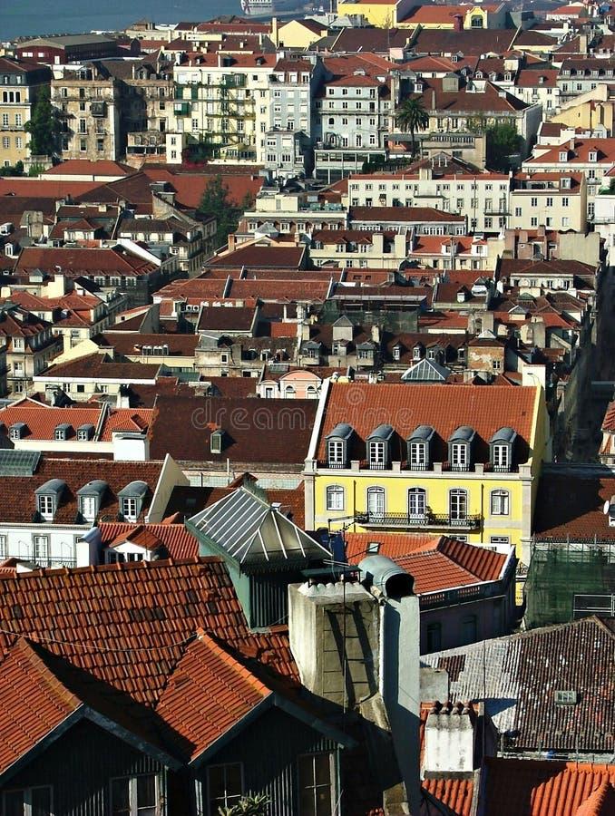 Mening over Lissabon royalty-vrije stock foto