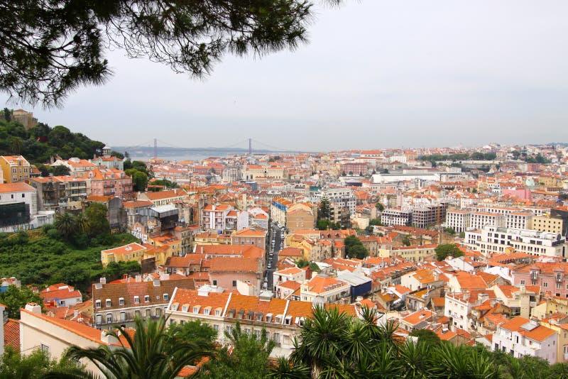 Mening over Lissabon, Portugal I stock afbeeldingen